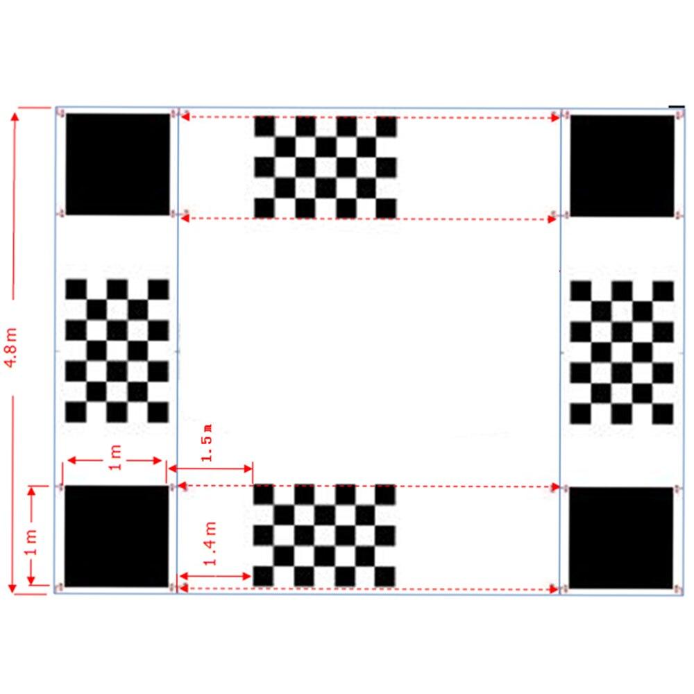 AHD 360 Degree Car Camera System Calibration Cloth For 3D Car Bird Eye Around View 4 Way Camera System
