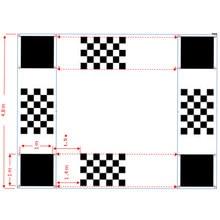 AHD 360 degrés système de caméra de voiture, tissu d'étalonnage pour voiture 3D, vue autour des yeux d'oiseau, système de caméra à 4 voies