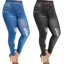 Large Size Jeans Woman Streetwear Hole Ripped Jeans for Wome