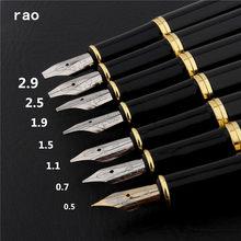 Stylo à plume de calligraphie anglaise, de luxe, de qualité, 389 noir 0.5/0.7/1.1/1.5/1.9/2.5/2.9mm, fournitures de papeterie, stylos scolaires