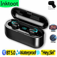 Intkoot Wireless Bluetooth Earphone for Android iOS Noise Cancellation TWS Truly in Ear wireless earbud sport running Waterproof