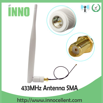 20pcs/lot wholesale 5dbi 433Mhz Antenna SMA Male Connector 433 mhz antena directional +21cm SMA female to Ufl./IPX Pigtail Cable 20pcs lot gd10nc60kd to 252