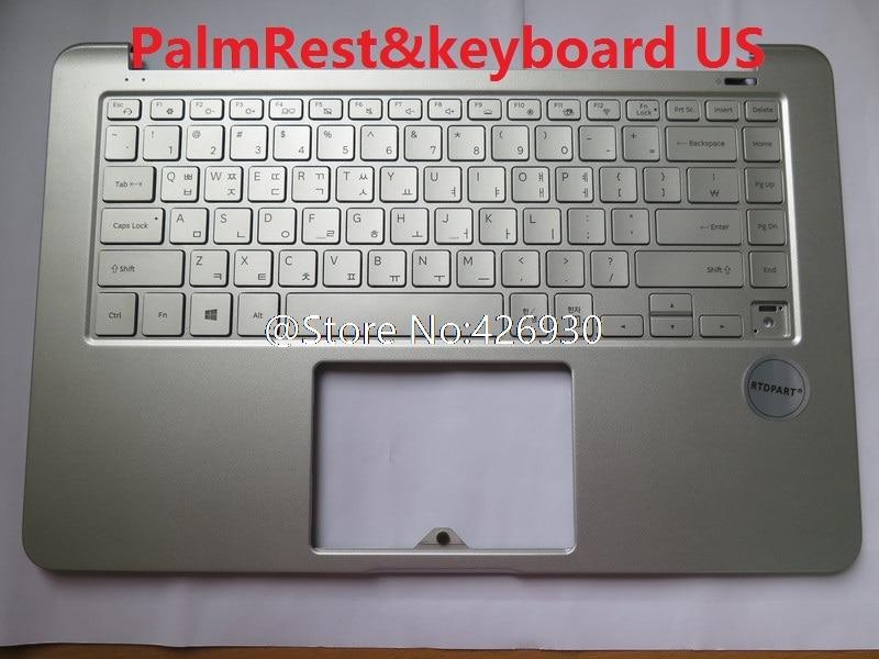 Laptop Palmrest/&Keyboard for Samsung NP850XAC 850XAC Korea KR BA98-01493B 9Z.NC4BN.C0K with Touchpad Speaker 95/% New