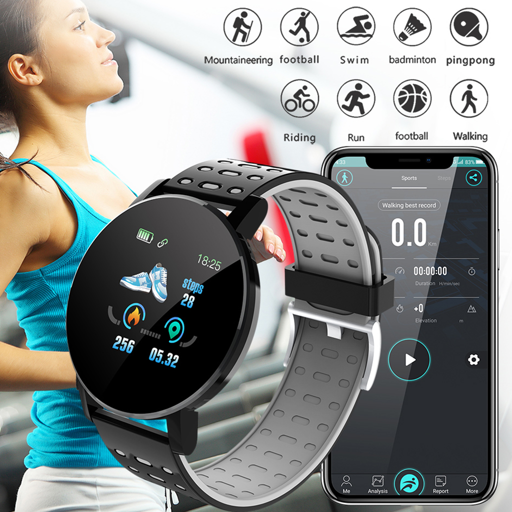 Bracelet intelligent Bracelet femmes hommes Sport Fitness Tracker montre Bluetooth 4.0 Bracelet pour iPhone Android Windows système Microsoft 1