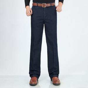 Image 3 - Big Size Classic Business Jeans Voor Mannen Herfst Winter Mannelijke Toevallige Hoge Kwaliteit Dikke Fleece Warme Elastische Denim Broek Maat 30 44