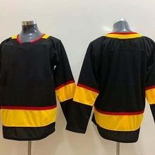 Men's Stitch America Hockey Jersey Vancouver Ice Fans Brock Boeser Elias Pettersson Bo Horvat Mogilny Bure Jerseys