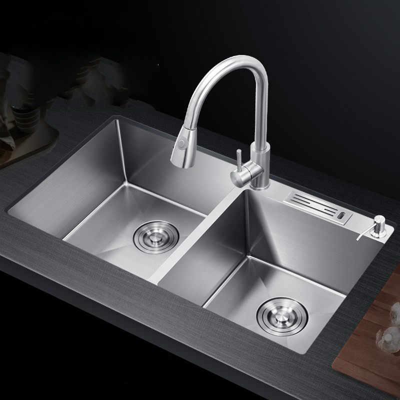 Mutfak malzemeleri almanya paslanmaz çelik lavabo çift lavabo 304 mutfak lavabo ev lavabo lavabo lavabo lavabo WF921415