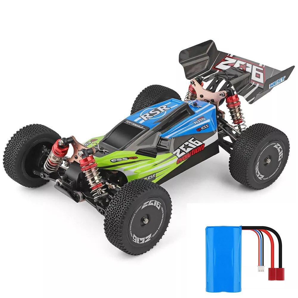 WLtoys 1/14 144001 RTR 2.4GHz RC voiture échelle dérive course voiture 4WD métal châssis arbre roulement à billes engrenage hydraulique choc absobre - 4