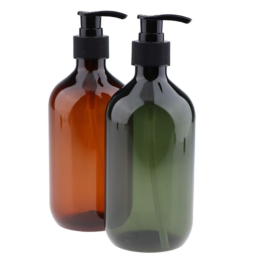 500ML Home Shower Shampoo Lotion Empty Refillable Pump Dispenser Bottle Travel Packing Cosmetic Container