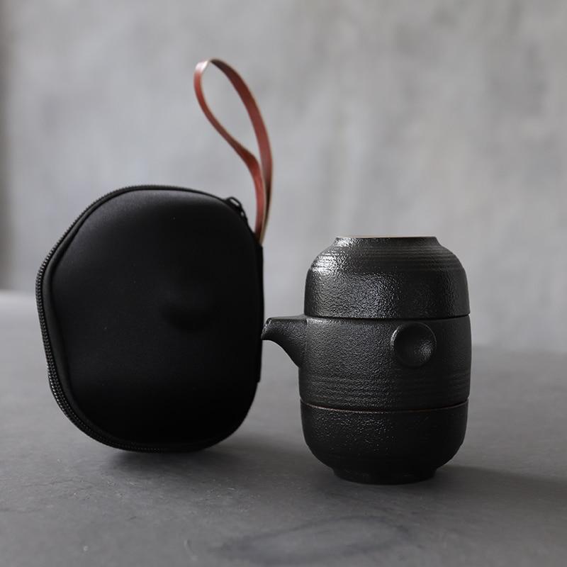 LUWU Ceramic Teapot Gaiwan Teacup Portable Travel Tea Set Chinese Kung Fu Tea Sets Drinkware