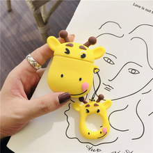 For AirPods 2 Case Cute Cartoon Ox Bull Cow Soft Silicone Wireless Bluetooth Earphone Cases For Apple Airpods Case Cover Funda cute cartoon case for apple airpods fries burger create cover wireless bluetooth earphone case for apple airpods 2 a30