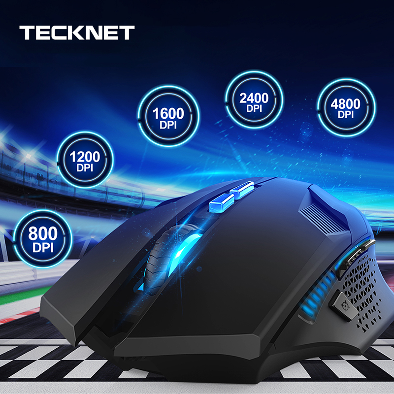 Image 2 - TeckNet 4000DPI Optical Ergonomic Wireless Gamer Mice Computer Wireless Gaming Mouse Mini USB Mouse Gamer For PC Laptop-in Mice from Computer & Office