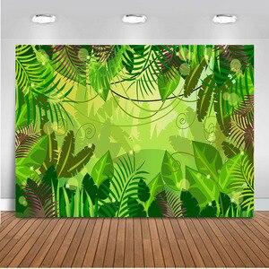 Image 4 - Mehofoto tło do zdjęć z motywem dżungli wiosna tło do budki fotograficznej Studio impreza w stylu Safari tło tkanina winylowa bez szwu 812