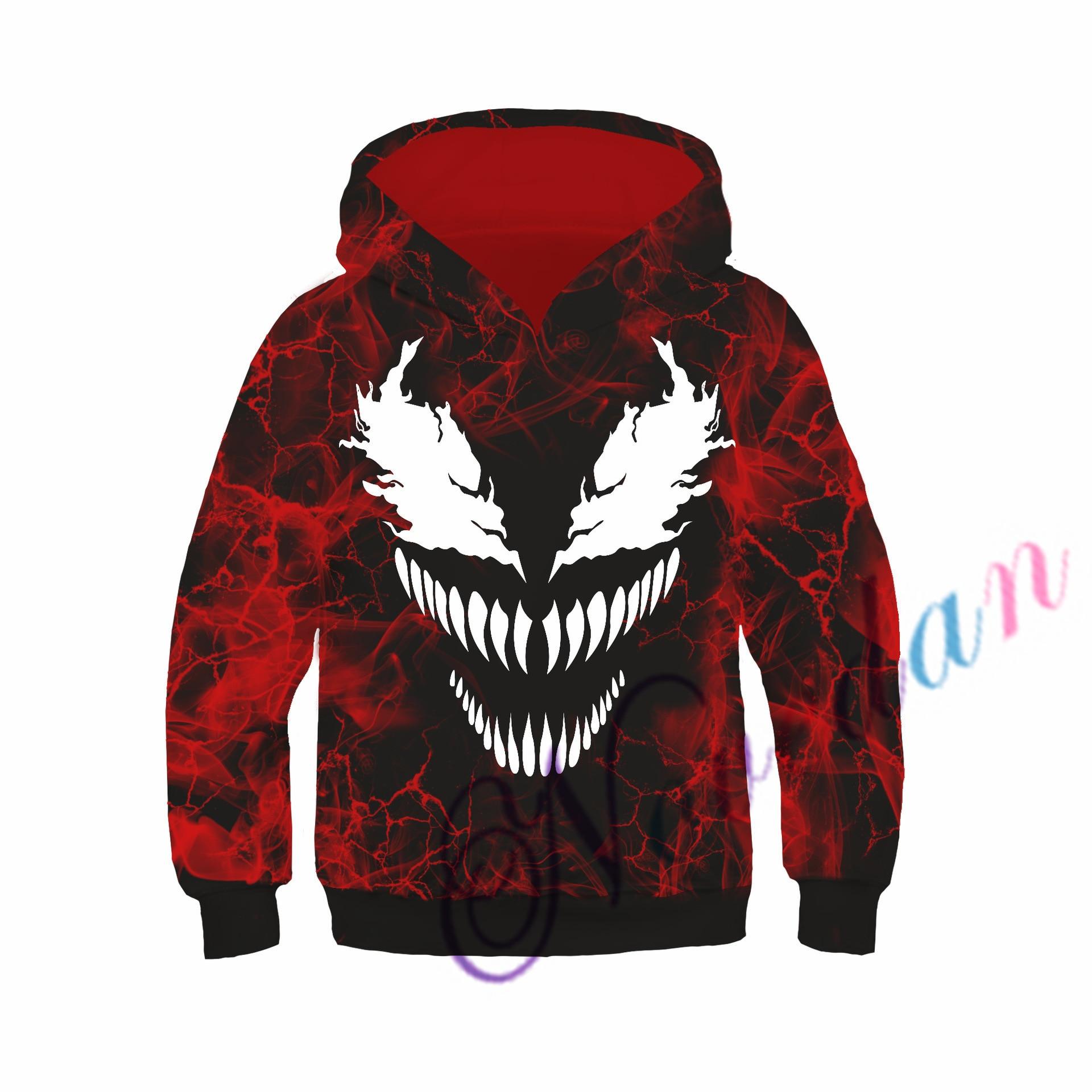 Kids Boys Hooded Endgame Cosplay Venom Man Sweatshirt Hoodie Costume Superhero Streetwear 4