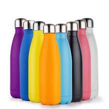 Solid Water Bottle Stainless Steel Thermos Flask Insulated Water+Bottles Portable Gym Drink Milk Mug Protein Shaker Cup