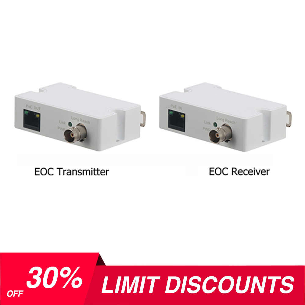 2 Pack LINOVISION POE Over Coax EOC Converter IP Over Coax Max 3000ft Power and Data Transmission Over Regular RG59 Coaxial Cable for Upgrading Analog Surveillance System to IP Surveillance System