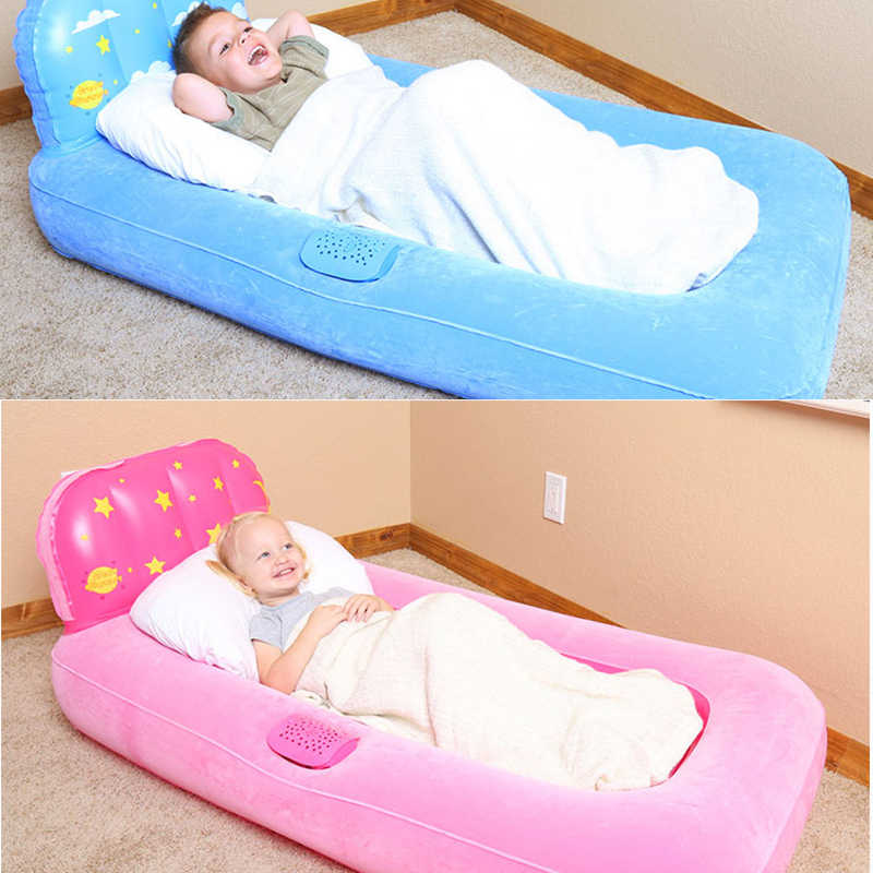 Single Inflatable Bed Rumah Dekorasi Anak Sleeping Bag Malas Sofa Indoor Kursi Mainan Anak
