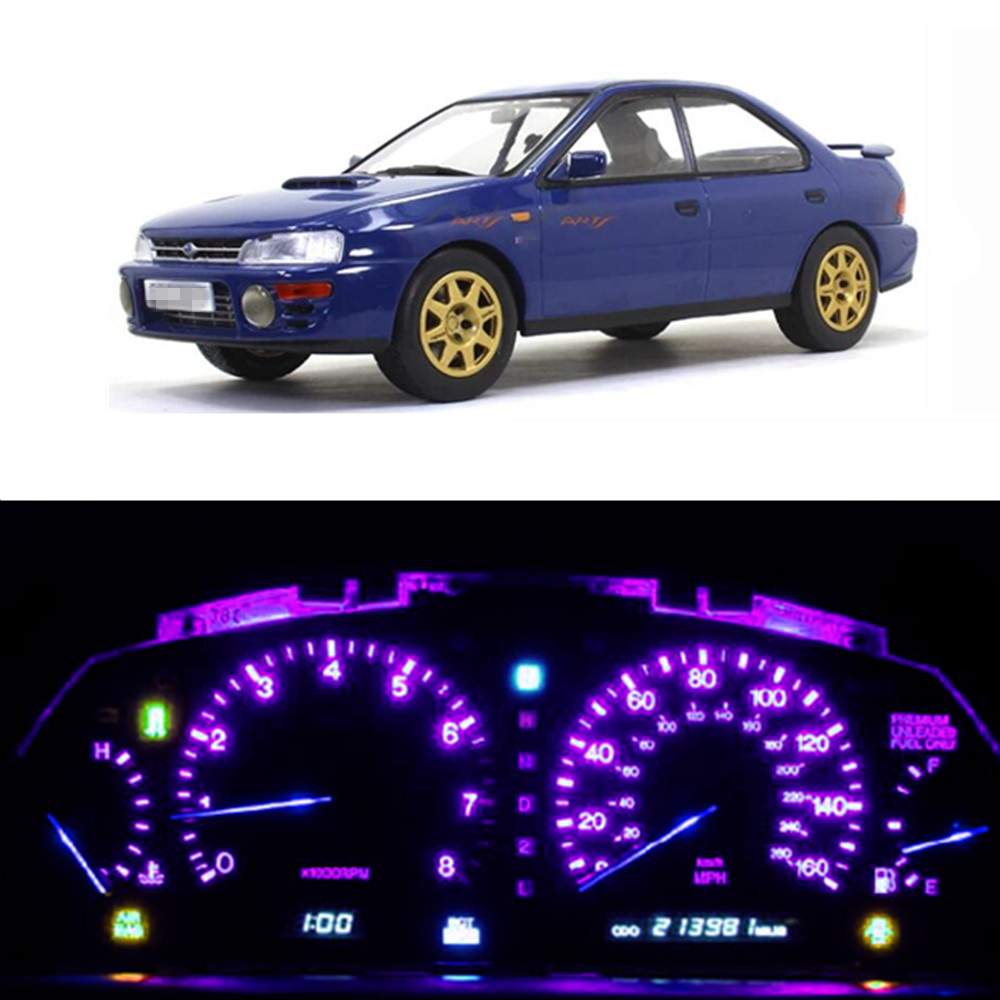 WLJH 25x Bright Instrument Panel Gauge Cluster Speedometer Dash Light Bulb Led Full Conversion Kit For 1992-1997 Subaru Impreza