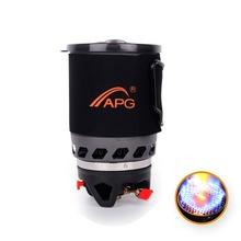 APG Camping naczynia miska garnek Pan zastawa stołowa połączenie System gotowania gazu kuchenka zewnętrzna przenośna kuchenka gazowa palniki propanowe tanie tanio Brak w zestawie Aluminium