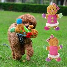 Jouet à mâcher en pain d'épice pour homme, couineur en peluche, chiot, chien, pour petits chiens, accessoires pour animaux de compagnie résistants aux morsures, jouets pour chiots, produits Mascotas