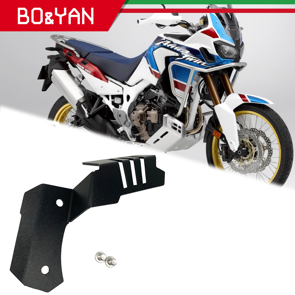 SODIAL Front Brake Reservoir Guard Cover Motorcycle Accessories for CRF1000L 2016-2019 CRF 1000L Africa Twin