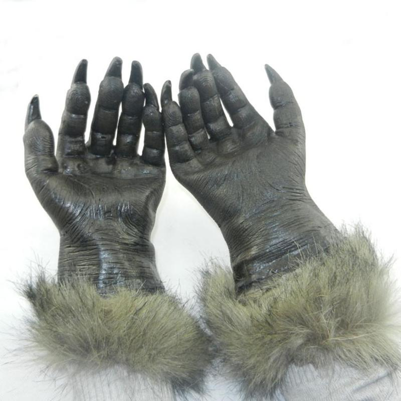 Witch Werewolf Wolf Paws Halloween Cosplay Glove Creepy Costume Prop Theater Toy Suitable For Makeup Parties Masquerade