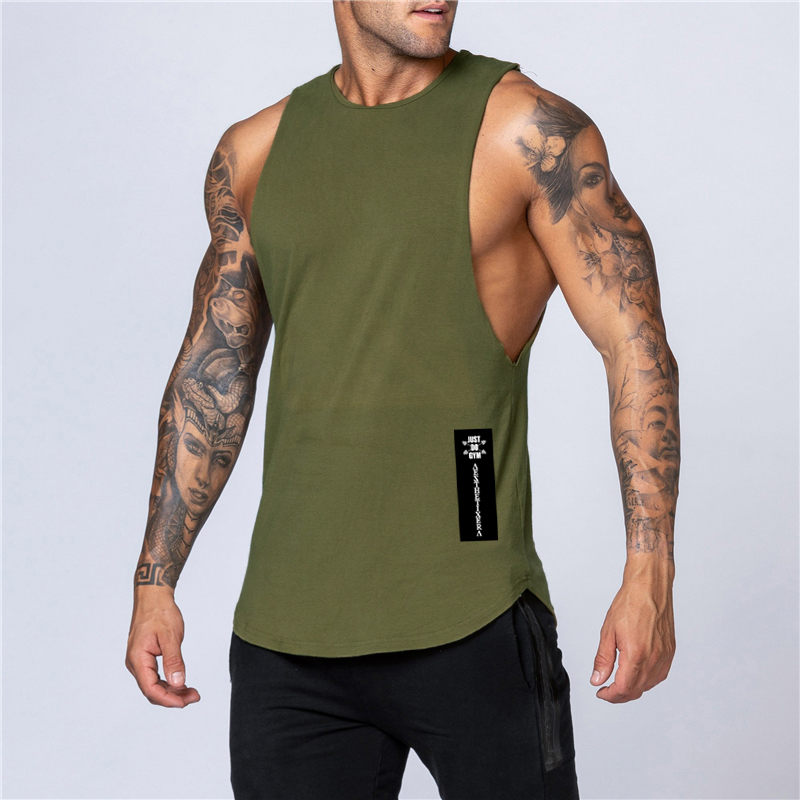 Workout Gym Mens Tank Top Vest Muscle Sleeveless Sportswear Shirt Stringer Fashion Clothing Bodybuilding Singlets Cotton Fitness 4