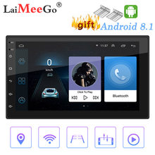 Mobil Multimedia Player Android 8.1 2 DIN Gps Navigasi Bluetooth Mobil Audio Wifi USB Cermin Link Stereo Autoradi Monitor Mobil cam(China)