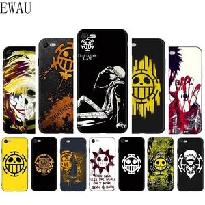 EWAU One Piece Trafalgar Law Logo Soft Silicone Phone Cover Case for iphone SE 2020 5 5S SE 6 6s 7 8 Plus X XR XS 11 Pro MAX
