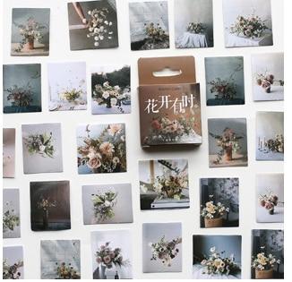 Flower Time Diy Decorative Sticker(1pack=46pieces)