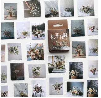 S144- Flower Time Diy Decorative Sticker(1pack=46pieces)