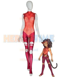 custom made Catra Suit She-Ra Princess of Power Catra Cosplay Costume 3D Print Halloween Female Bodysuit For adult/kids(China)