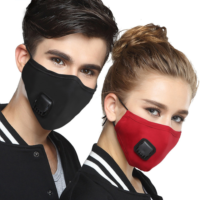 PM 2.5 Mask Full Face Protective Mask Anti-Dust Flu Mouth Face Masks Respirator Activated Carbon Washable Breathing Apparatus 5