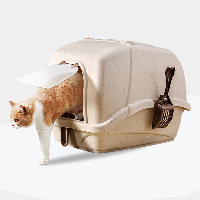 Large Size Anti Splash Cats Litter Box Cat Dog Tray Kitten Dog Clean Toilet Closed Pets Cat Litter  Pet Accessories