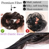 Snoilite women scrunchies hair elastic hair bun chignon hairpieces synthetic updo hair accessories Ponytail Extensions for women 5