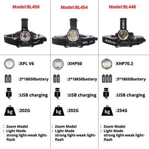 Image 2 - Xlamp XHP70.2 Led פנס USB נטענת XHP50 פנס סופר מואר V6 ציד רכיבה על אופניים מנורת שימוש עמיד למים 18650