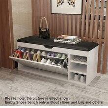 Европейская Современная Сменная обувь, скамейка, откидная дверь, деревянное мягкое сиденье из искусственной кожи, 12-14 пар, шкаф для хранения обуви, органайзер, мебель для дома