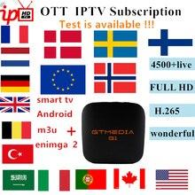World HD iptv 5000 HD live subscription android tv box europ