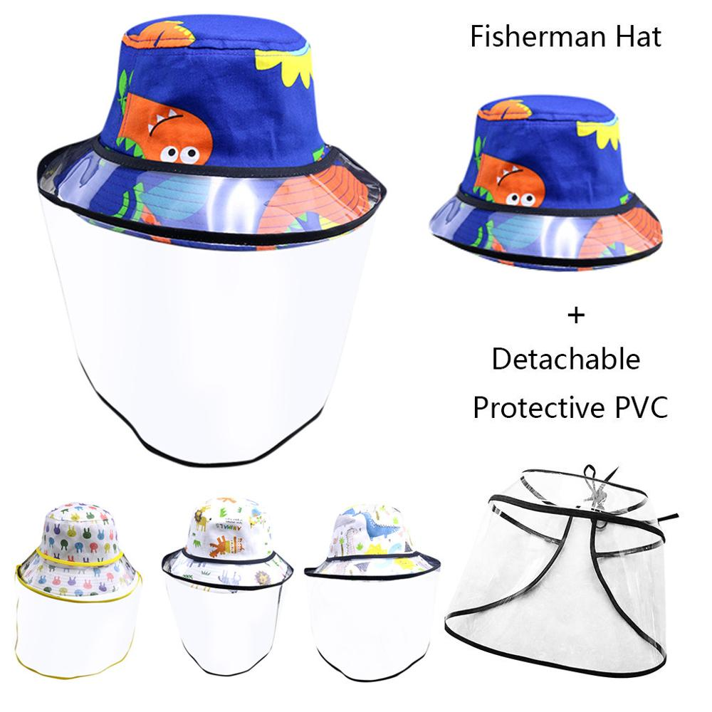 Anti-spitting Protective Hat Dustproof Cover Kids Boys Girls Fisherman Cap Effectively isolates saliva carrying viruses In stock(China)