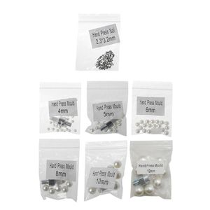 Image 1 - Máquina de rebordear Manual, tapa de ropa, remache de cuentas de perlas, artesanía para la reparación DIY, herramientas para el cabello, sombrero de punto de encaje