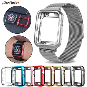 ProBefit TPU Slim Soft Case for Apple Watch Series 1 2 3 38MM 42MM Plating Protective Cover for iwatch Series 4 5 40MM 44MM