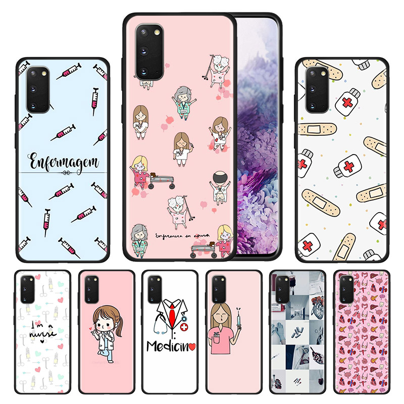 <font><b>Silicone</b></font> <font><b>Case</b></font> for <font><b>Samsung</b></font> Galaxy S20 Ultra 5G S10 S10E S9 S8 <font><b>S7</b></font> S10 S9 S8 Plus <font><b>S7</b></font> <font><b>Edge</b></font> Phone Cover Nurse Medical Medicine Health image