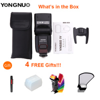 YONGNUO YN 560 IV Wireless Master Flash Speedlite for Nikon Canon Olympus Pentax DSLR Camera Flash Speedlite Original W Gift