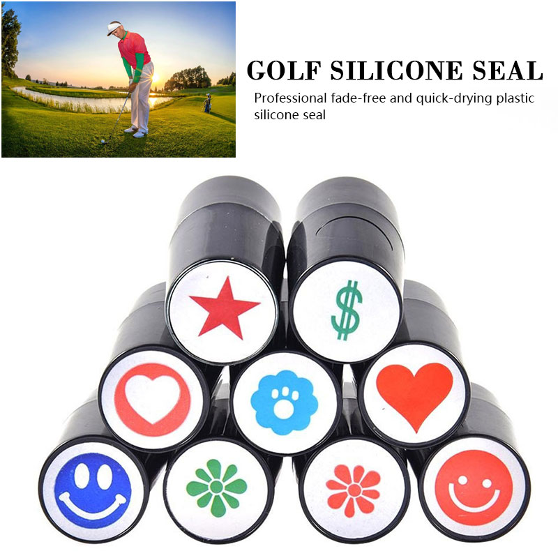 Silicone Leisure Playing Durable Golf Ball  Stamper Romantic Outdoor Action Correction Device Stamp Stamper Sporting