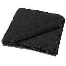 NEW 10PC Black Cleaner Clean Glasses Lens Cloth Wipes For Sunglasses Microfiber