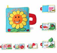 Cartoon Hund Deer Baby Mobile Rasseln Plüsch Tuch Buch Für Kleinkinder Neugeborenen Lern Frühe Bildung Spielzeug Spielzeug livro DS19