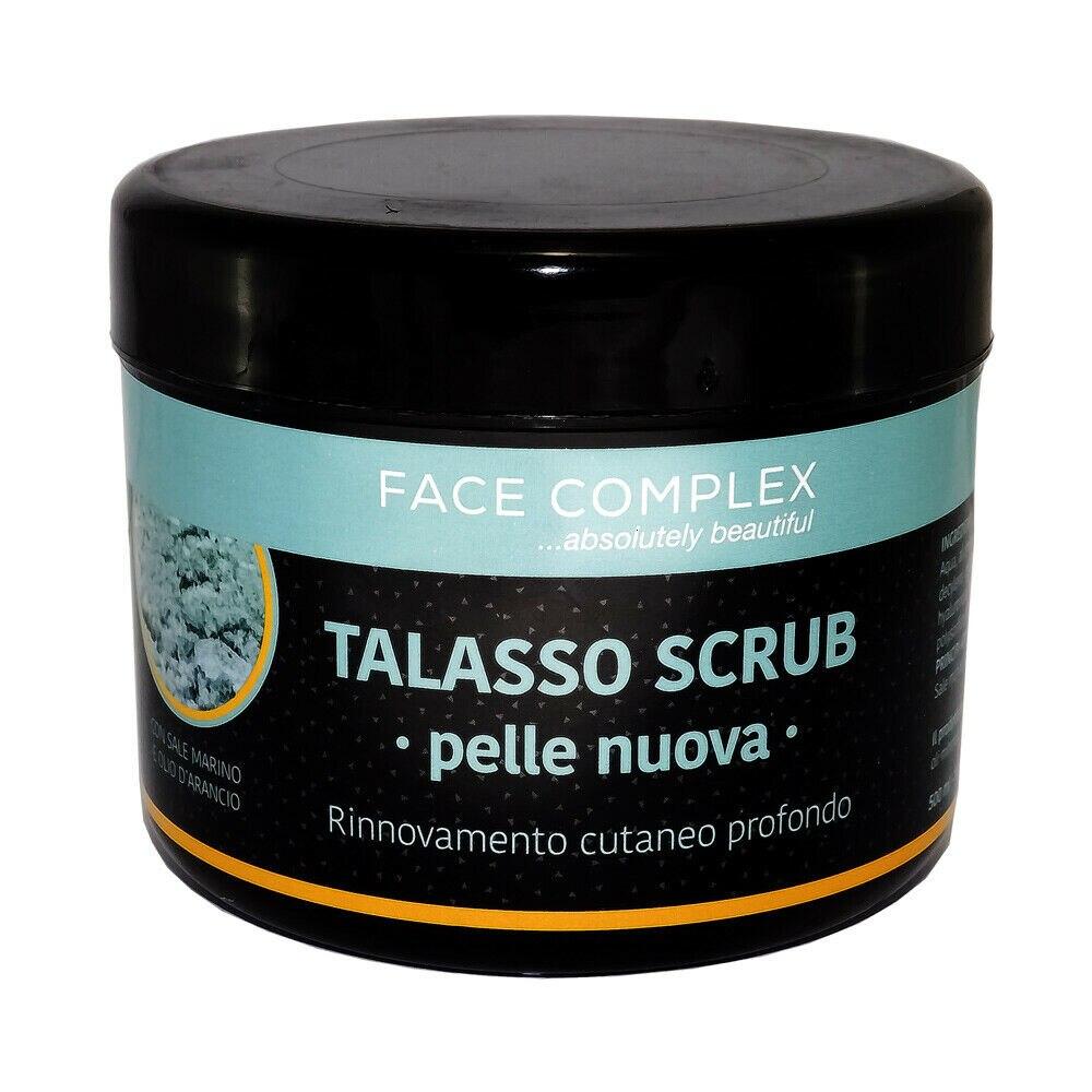FACE COMPLEX TALASSO SCRUB PELLE NUOVA CON SALE MARINO E OLIO DI ARANCIO 500ml