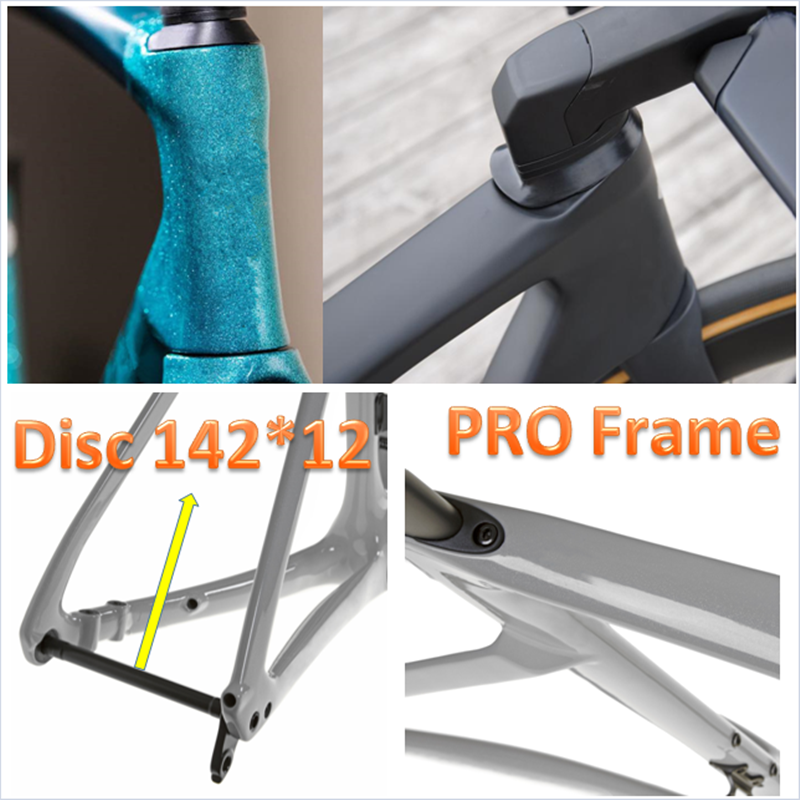 PRO Road-Bike-Frame Carbon-Fiber T1000-Disc Di2 UD 2-Years Mechanical-Racing Warranty Axle 142*12mm Fork-Seatpost Disc V Brake F
