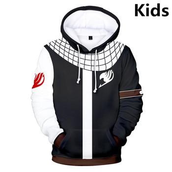 3 To 14 Years Kids Hoodies Anime Fairy Tail 3D Printed Boys Girls Hoodie Cartoon Sweatshirt Casual Children Clothes 1