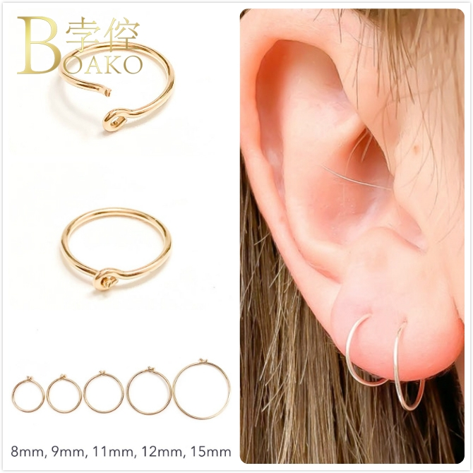Mode Punk Ear Stud Hoops Gold//Silver Big Small Medium Hoop Boucles d/'oreilles Bijoux